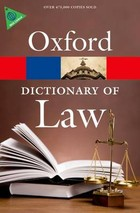 A Dictionary of Law - Elizabeth Martin, Jonathan Law