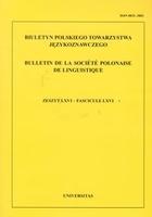Biuletyn Polskiego Towarzystwa Językoznawczego PRACA ZBIOROWA - PRACA ZBIOROWA