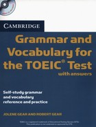 Cambridge Grammar and Vocabulary for the TOEIC Test with Answers + CD - Jolene Gear, Robert Gear