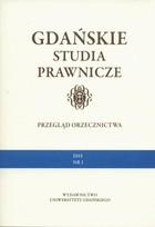 Gdańskie Studia Prawnicze PRACA ZBIOROWA - PRACA ZBIOROWA