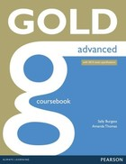 GOLD Advanced. Coursebook with online Audio - Sally Burgess, Amanda Thomas