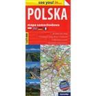 Mapa samochodowa Polska PRACA ZBIOROWA - PRACA ZBIOROWA