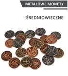 Metalowe monety Średniowieczne (zestaw 24 monet)