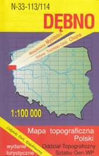 N-33-113 114 Dębno. Mapa topograficzna Polski PRACA ZBIOROWA - PRACA ZBIOROWA