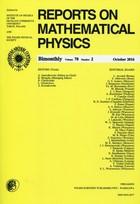 Reports on Mathematical Physics PRACA ZBIOROWA - PRACA ZBIOROWA