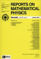 Reports on Mathematical Physics PRACA ZBIOROWA - PRACA ZBIOROWA