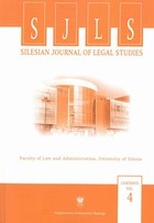Silesian Journal of Legal Studies. Contents Vol. 4 - 06 The - pdf - Barbara Mikołajczyk
