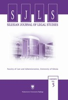 Silesian Journal of Legal Studies. Contents Vol. 5 - pdf - Barbara Mikołajczyk
