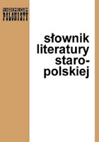 Michałowska T. - Słownik Literatury Staropolskiej