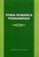 Studia Romanica Posnaniensia 41/4 PRACA ZBIOROWA - PRACA ZBIOROWA