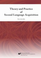 Theory and Practice of Second Language Acquisition 2016. Vol. 2 (2) - pdf - PRACA ZBIOROWA