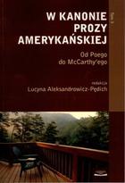 W kanonie prozy amerykańskiej Lucyna Aleksandrowicz-Pędich - Lucyna Aleksandrowicz-Pędich
