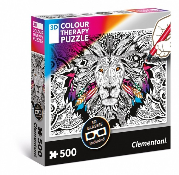 Clementoni 3D Color Therapy Lew