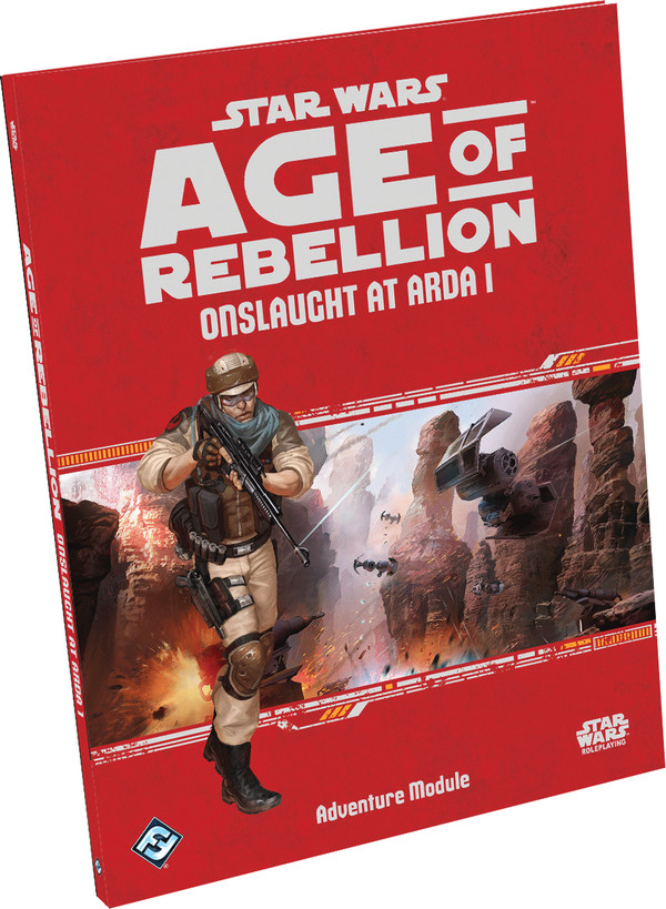 FFG RPG Star Wars Age of Rebelion - Onslaught at Arda I Adventure Supplement - Wydanie angielskie