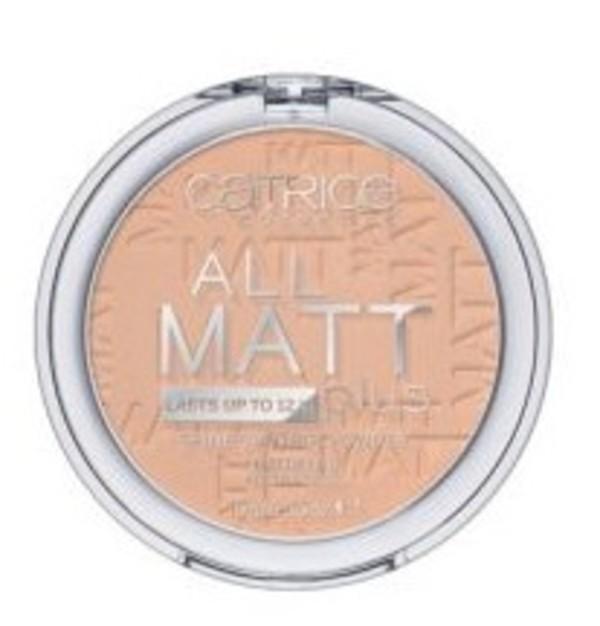 All Matt Plus Shine Control Powder 12H 025 Sand Beige Puder matujący