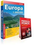 Atlas samochodowy Europa + pierwsza pomoc - PRACA ZBIOROWA