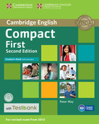 Compact First Student`s Book with Answers + CD with Testbank - Peter May