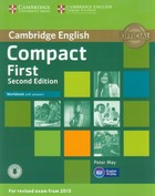 Compact First. Workbook Zeszyt ćwiczeń with answers + CD - Peter May
