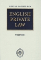 English Private Law 3 vols & Second Cumulative Suplement