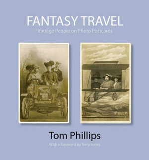 Fantasy Travel Vintage People on Photo Postcards