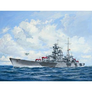 German Heavy Cruiser Admiral Hipper Skala 1:720
