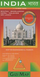 India Map for businessmen and tourists / Indie Mapa turystyczno-biznesowa - PRACA ZBIOROWA