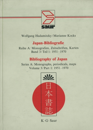 Japan Bibliografie 1951-1970 Series A v 3/1