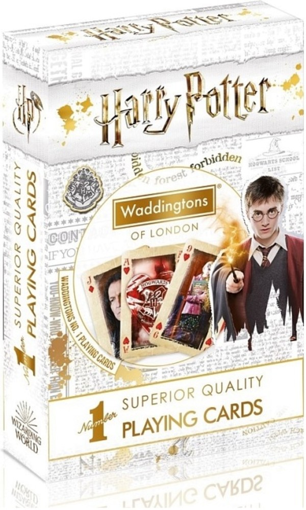 Karty do gry Waddingtons No. 1 Harry Potter White