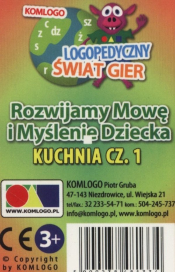 Karty Rozwijamy Mowe I Myslenie Dziecka Kuchnia Czesc 1 12 18zl