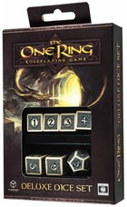 Komplet Kości Deluxe The One Ring RPG (Beżowo-czarny) -