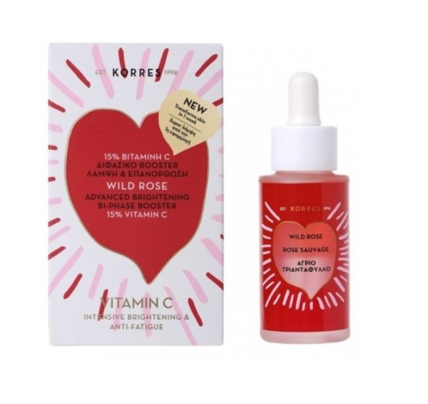 Wild Rose Advanced Brightening Bi-Phase Booster Dzika Róża Dwufazowy booster rozjaśniający z witaminą C
