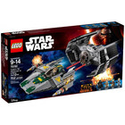 LEGO Star Wars Vader`s TIE Advanced vs. A-Wing Starfighter 75150 -