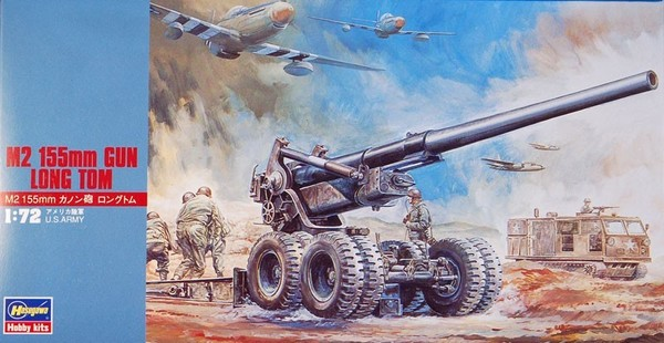 M2 155mm Gun Long Tom Skala 1:72