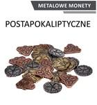 Metalowe monety Postapokaliptyczne (zestaw 24 monet)