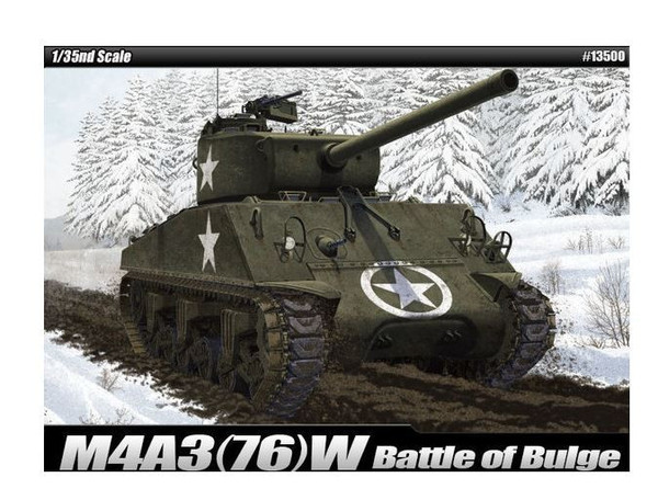 Model do sklejania M4A3(76)W US Army Battle of Bulge
