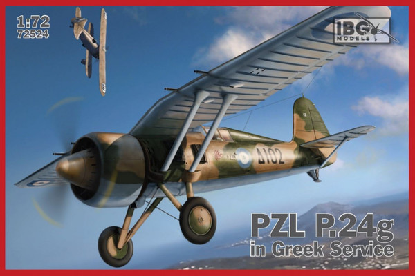 Model plastikowy PZL P.24g Greek Service