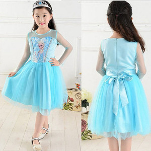 26b5cb6b78 Niebieska sukienka Elsa Kraina lodu   Frozen rozmiar 120 cm 56
