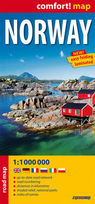 Norway - road and tourist map 1:1 000 000 - PRACA ZBIOROWA