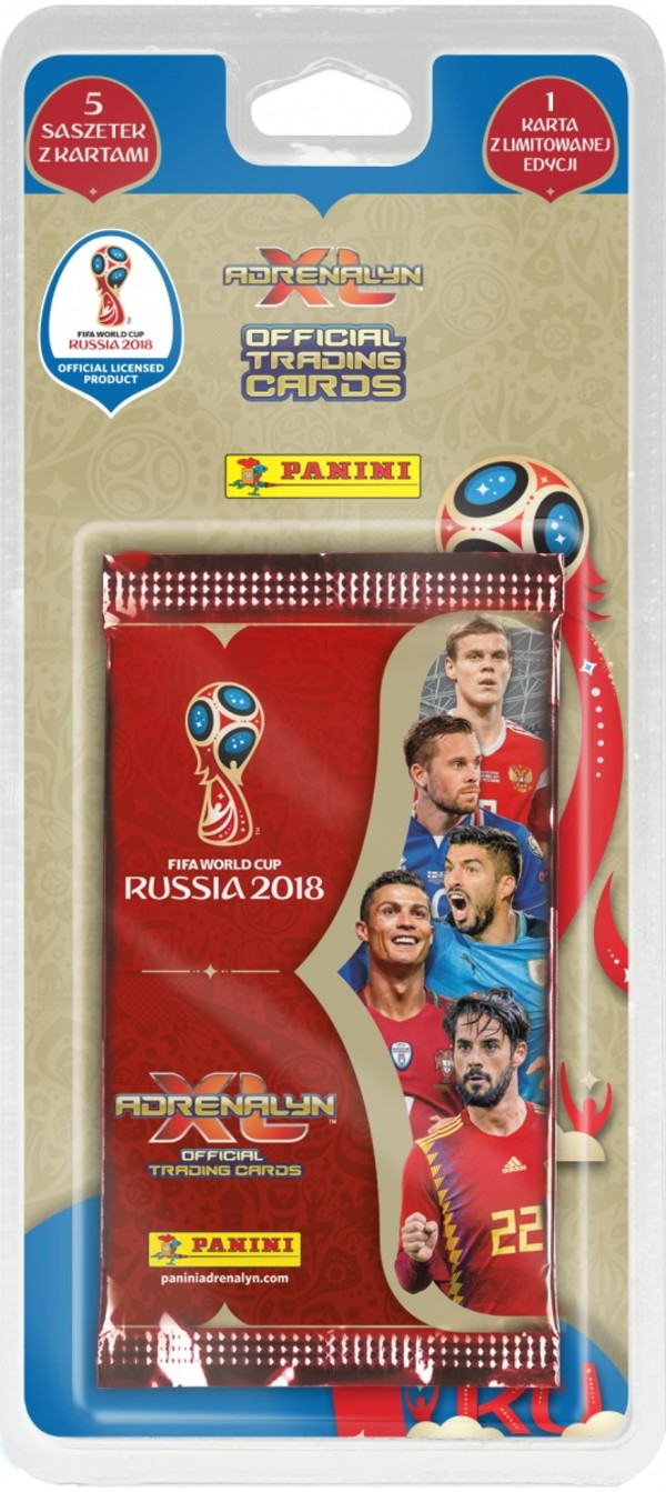 Panini FIFA World Cup Russia 2018 Adrenalyn XL Blister 5+1