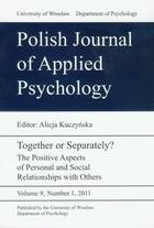 Polish Journal of Applied Psychology 9 nr 1