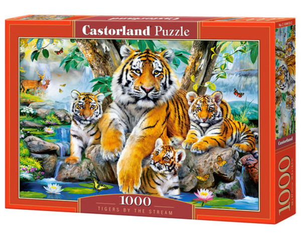 Castorland Puzzle Tigers by the Stream