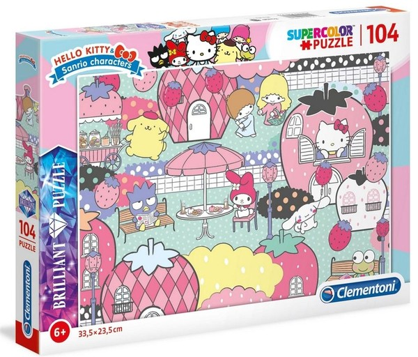 Clementoni Puzzle Brilliant Hello Kitty 104 elementy