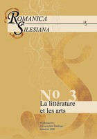 Romanica Silesiana. No 3: La littérature et les arts - 02 Literature and Other Arts in Canada: Some Current Practices - pdf