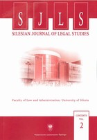 Silesian Journal of Legal Studies. Contents Vol. 2 - 06 Rechtsschutz der kommunalen Selbstverwaltung im polnischen Rechtssystem - pdf - Barbara Mikołajczyk