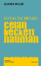 Stating the Obvious: Celan - Beckett - Nauman - 01 Celan: Against the Reason of Figure - pdf