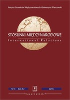 Stosunki Międzynarodowe nr 4(52)/2016 - Edward Haliżak: Stosunki USA-Chiny: falsyfikacja hipotezy pułapki Tukidydesa [USA-China Relations: Falsification of the Thucydides Trap Hypothesis] - pdf - PRACA ZBIOROWA