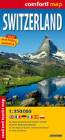Switzerland - road and tourist map 1:350 000 - PRACA ZBIOROWA
