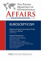 The Polish Quarterly of International Affairs nr 2/2015 - From Eurogovernmentalism to Hard Euroscepticism Genesis of the Czech Liberal-Conservative Anti-EU& Stream - pdf