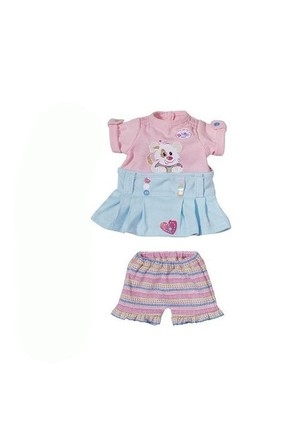 Ubranko dla lalki my little Baby born Dress Collection różowo-niebieskie
