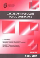Zarządzanie Publiczne nr 2(40)/2017 - Ewa Glińska: Angażowanie interesariuszy w proces brandingu miasta - teoria versus praktyka [Stakeholders involvement in the process of city branding - Theory versus practice] - pdf - Stanisław Mazur